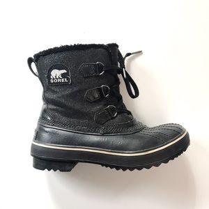 •new listing• Sorel black glitter snow boots